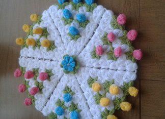 3 Boyutlu Çiçekli Lif Nasıl Yapılır? - Örgü Modelleri - crochet free crochet pattern lif modelleri ve yapılışları lif nasıl yapılır videolu anlatım lif nasıl yapılır videosu videolu örgü modelleri