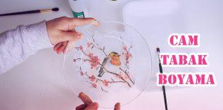 Cam Tabak Nasıl Boyanır? - Cam Boyama El İşi Hobi Dünyası - cam boyama dekupaj cam boyama nasıl yapılır cam boyama örnekleri cam boyama teknikleri cam boyama yapılışı video kavanoz boyama