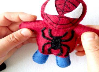 Keçe Örümcek Adam Nasıl Yapılır? - Hobi Dünyası - keçe bebek şekeri nasıl yapılır keçe çalışmaları keçe modelleri keçe örnekleri keçe süslemeler