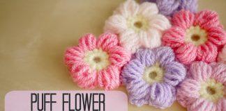 Puf Çiçek Nasıl Yapılır? - Örgü Modelleri - crochet crochet free pattern puf bebek battaniyesi tığ işi örgü modelleri videolu örgü modelleri