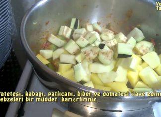Patlıcanlı Türlü Tarifi Nasıl Yapılır? - Sebze Yemekleri - değişik sebze yemekleri etsiz sebze yemekleri pratik sebze yemekleri vejeteryan yemek tarifleri