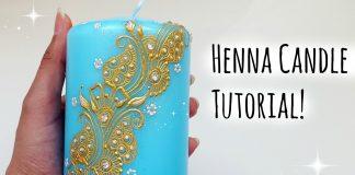 Henna Mum Boyama Nasıl Yapılır ? - Dekorasyon - dekoratif mum yapımı ve süsleme teknikleri dekoratif mumlar nasıl yapılır el yapımı mum süsleme henna mum boyama mum süsleme modelleri süslü mum nasıl yapılır