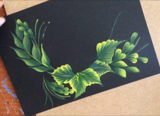 One Stroke Tekniği ile Yaprak Yapımı - Ahşap Boyama - ahşap boyama çiçek desenleri one stroke gül yapımı one stroke örnekleri one stroke tekniği yağlı boya gül yapımı videoları