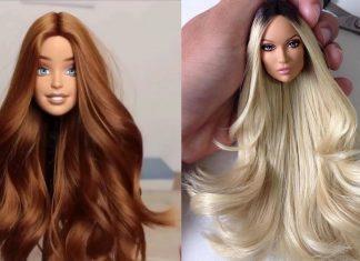 Barbie Bebeğe Saç Yapımı - Saç Modelleri - barbie bebek saç modelleri yapımı barbie saç modelleri kolay kendin yap barbie saç oyuncak bebek saçları nasıl yapılır