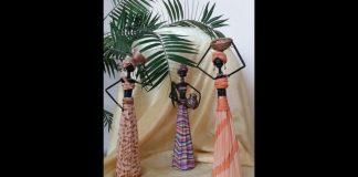 Gazeteden Afrikalı Kız Yapımı - Dekorasyon Geri Dönüşüm Projeleri - eski gazeteden neler yapılır gazete kağıdı ile neler yapılır gazeteden neler yapılır örnekleri gazeteden süs eşyası yapımı gazeteden yapılan tasarımlar