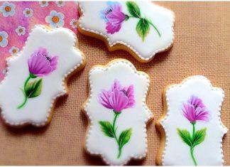 One Stroke Tekniği ile Kurabiye Süsleme - Kurabiye Tarifleri - butik kurabiye süsleme teknikleri evde kurabiye süsleme kurabiye süsleme malzemeleri kurabiye süslemeleri nasıl yapılır