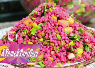 Şalgamlı Bulgur Salatası - Salata Tarifleri - bulgur salatası nasıl yapılır değişik salata tarifleri kalın bulgur salatası şalgamlı buğday salatası şalgamlı kuskus salatası