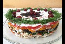Tavuklu Patlıcan Salatası - Salata Tarifleri - çay saati salata tarifleri farklı meze tarifleri salata çeşitleri tarifleri tavuklu salata tarifleri