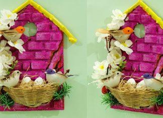 Serçe Yuvası Yapımı - Ahşap Boyama Dekorasyon - ahşap boyama nasıl yapılır video ahşap boyama örnekleri ahşap boyama süsleme kendin yap dekorasyon