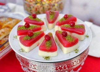 Vişneli İki Renkli İrmik Tatlısı - Tatlı Tarifleri - hafif sütlü irmik tatlısı kek kalıbında vişneli irmik tatlısı sütlü irmik tatlısı vişneli irmik tatlısı video