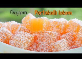 Ev Yapımı Türk Lokumu - Tatlı Tarifleri - doğal lokum tarifi portakallı lokum muhallebi portakallı mandalinalı lokum portakallı paşa lokumu