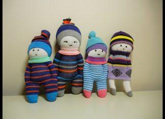 Çoraptan Bebek Yapımı Süsleme - Anne - Çocuk Dikiş Geri Dönüşüm Projeleri - çoraptan bebek yapımı youtube kolay bebek yapımı oyuncak bebek yapımı kolay