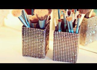 Makyaj Standı Yapımı - Ahşap Boyama Dekorasyon - dekoratif kutu yapımı makyaj dolabı yapımı makyaj malzemesi kutusu yapımı masa üstü organizer yapımı