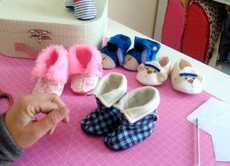 Kumaştan Bebek Ayakkabısı Nasıl Yapılır? - Anne - Çocuk Dikiş - bebek ayakkabısı süsleme malzemeleri deri bebek ayakkabısı yapımı el yapımı kumaş patik kalıbı keçeden bebek ayakkabısı kalıpları kumaş patik dikimi