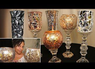 Mozaik Mumluk Yapımı - Cam Boyama Dekorasyon - değişik mumluk yapımı el yapımı mumluklar nasıl yapılır kendin yap dekorasyon mozaik vazo yapımı