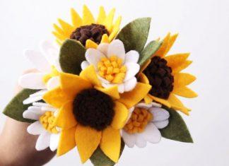 Keçe Çiçek Buketi Nasıl Yapılır?