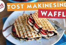 Tost Makinesinde Waffle Yapılışı