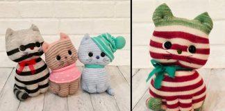 Çoraptan Kedi Yapımı