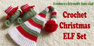 Örgü Elf Patik Yapımı
