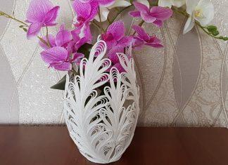 Pamuklu İpten Tutkalla Vazo Yapımı