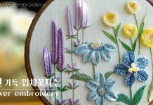 3 Boyutlu El Nakışı Çiçek Yapımı