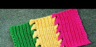 Renkli Şiş Örgü Modelleri Anlatımlı