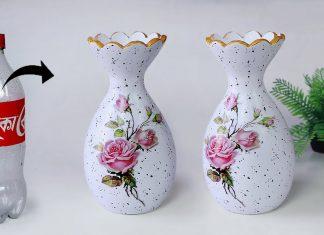 Plastik Şişeden Vazo Yapımı