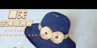 Organze Kurdeleden Yazlık Şapka Yapılışı
