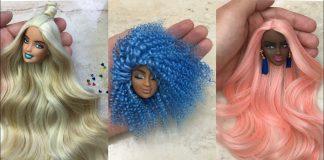 Barbie Bebek Saçı Yapımı