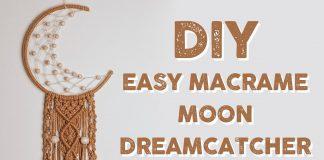 Makrome Ay Duvar Süsü Yapımı
